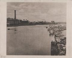Photograph, Buildings and Logging Along the Grand River