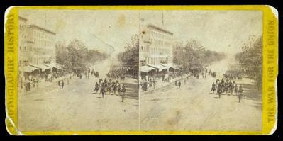 Stereoscopic Slide, #3323 Grand Review Civil War