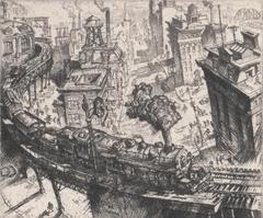 Print, 'Dawn, The Awakening City - State IV (Final; Edition State)'