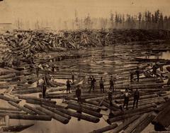 Photograph, Muskegon River Log Drive