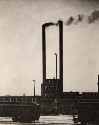 Photograph, Factory Smokestacks