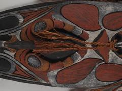 Mask, New Guinean, Wood And Fiber