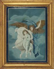Glass Painting, Angel And Child