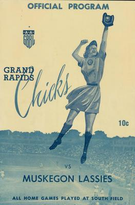 Official Program, Grand Rapids Chicks Vs Muskegon Lassies, 1949, All-American Girls Baseball League Archival Collection #66