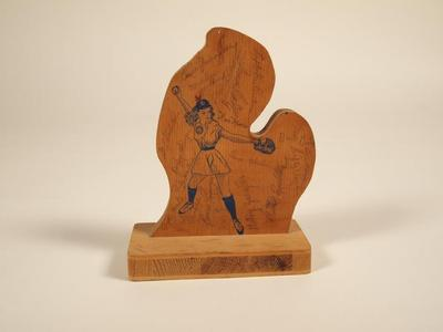 Plaque, Wood, Autographed By The Grand Rapids Chicks, 1954-55