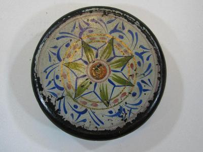 Snuff Box With Geometric Folk Painting