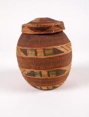 Woven Basket, With Lid