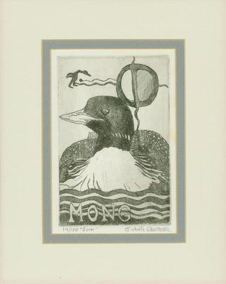 """Etching, """"Mong"""" (""""Loon"""")"""