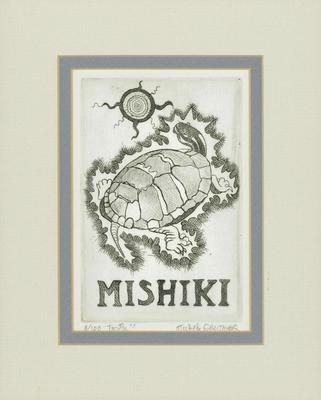 """Etching, """"Mishiki"""" (""""Turtle"""")"""