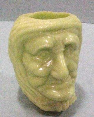 Toothpick Holder, Witch Head, Nile Green
