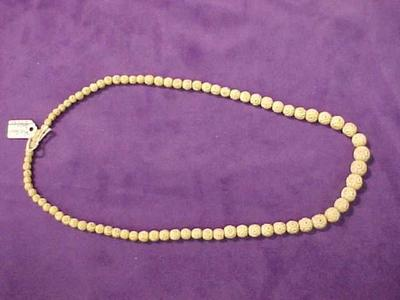Necklace, Ivory Beads