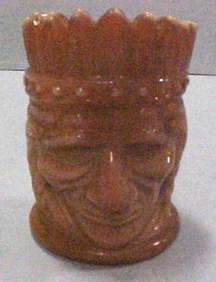 Toothpick Holder, Indian Head, Chococlate