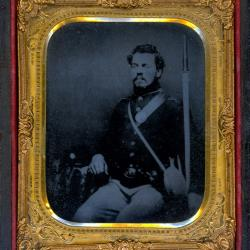 Cased Photograph, Unidentified Soldier