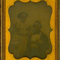 Cased Photograph, Aaron B. Turner And Charlotte A. Richards