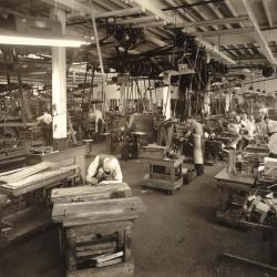 Photograph, Wood Carver and Furniture Carving Machinery