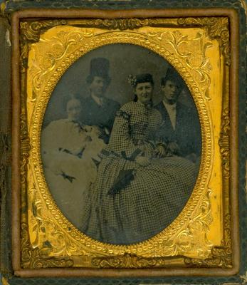 Cased Photograph, Anna M. Campbell, Sarah E. Campbell And Charles Provett
