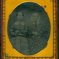 Cased Photograph, Two Unidentified Women