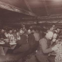 Photograph, Lumbermen Dining at a Lumber Camp