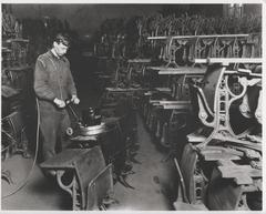 Photograph, American Seating Company, Sanding Desks