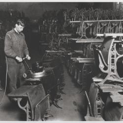 Photograph, American Seating Company, Sanding Desks