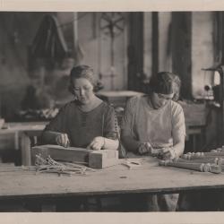 Photograph, Women Carving Furniture