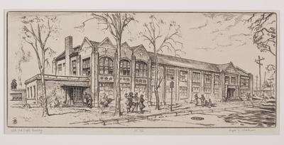 Print, 'arts And Crafts Building (central Michigan Engineering  College) - State Iii (final; Edition State)' (3 Of 3)