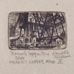 Print, 'hancock Copper Mine Ii - State Iii (final; Edition State);  5/100' (3 Of 3)