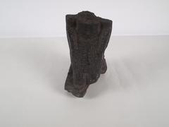 Kneeling Man Figure, Basalt