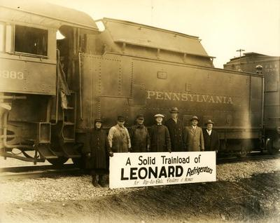 Photograph, Trainload Of Leonard Refrigerators