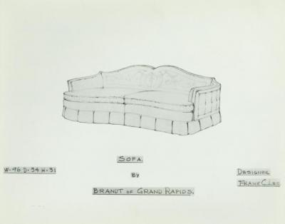 Drawing, Sofa, Designed by Frank C. Lee
