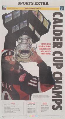 "Newspaper, Grand Rapids Press Calder Cup Champs"""