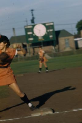 "Slide, Dorothy ""Dottie"" Kamenshek, All-American Girls Professional Baseball League"