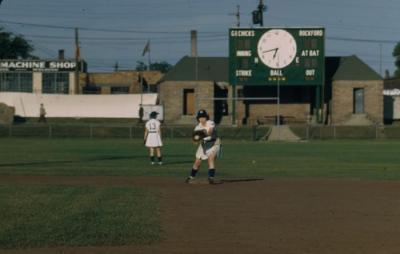 Slide, Marilyn ״Corky״ Olinger, All-American Girls Professional Baseball League