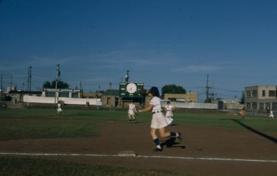 "Slide, Inez""Lefty"" Voyce of the All-American Girls Professional Baseball"