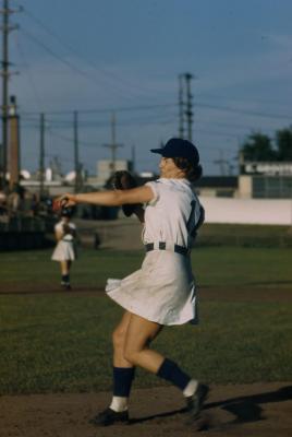 "Slide, Inez ""Lefty"" Voyce, All-American Girls Professional Baseball League"