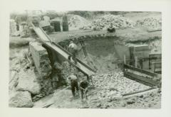 Photograph, Making Spillway at end of Canal, 1939