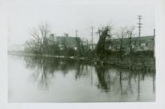 Photograph, Looking South down Canal from Star Mill, April 10, 1947