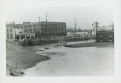 Photograph, Break in Spillway at end of Canal, March 19, 1942