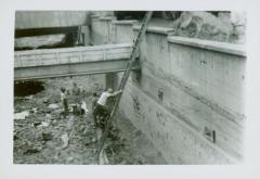 Photograph, Adding Soil to Canal at Crescent Mill, August 22, 1947