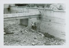 Photograph, Construction at Crescent Mill North flume, August 22, 1947