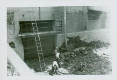 Photograph, Pouring Concrete at Crescent Mill North flume, August 22, 1947