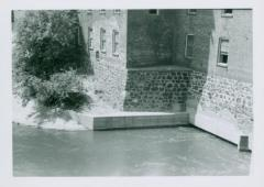 Photograph, Base of Crescent Mill at River, July 1955