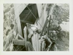 Photograph, Repairs to Star Mill flume, early 1940s