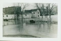 Photograph, Star Mill flume during flooding, 1942