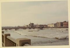 Photograph, Crescent Mill from Michigan Street Bridge, March 5, 1968