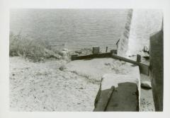 Photograph, West End of Play Dam at Star Mill flume