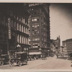 Photograph Grand Rapids Michigan Monroe Avenue looking northwest from Ottawa Avenue