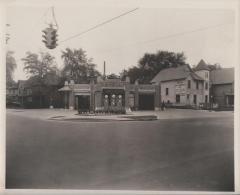 Photograph, Shell Service Station next to Robert E. O'Brien Oil Burner Company, Grand Rapids Michigan