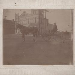 Photograph, Horse and Buggy, Engine House #5, 1181 Monroe Avenue, Grand Rapids Michigan
