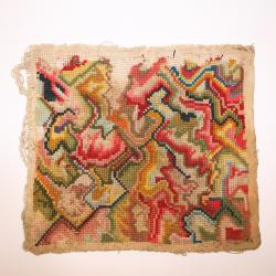 Needlework, Petit Work, Abstract Design, Square